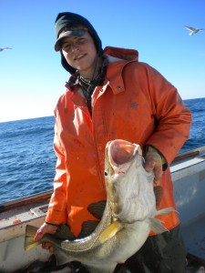 Happy hooker with a Gulf of Maine Cod